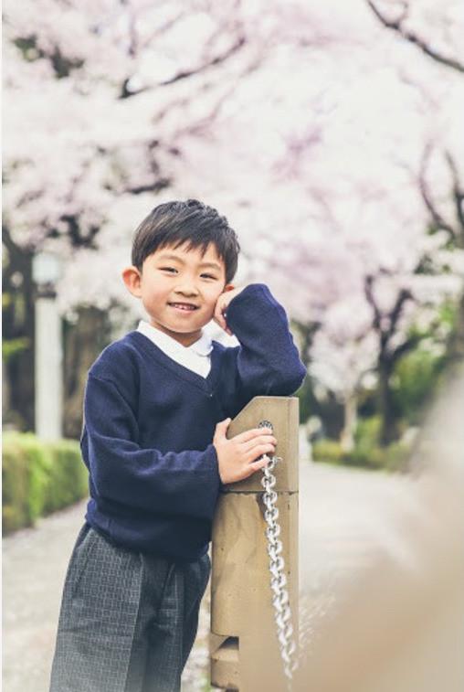 Layla Shibukawaが撮影した小学校入学式の記念写真