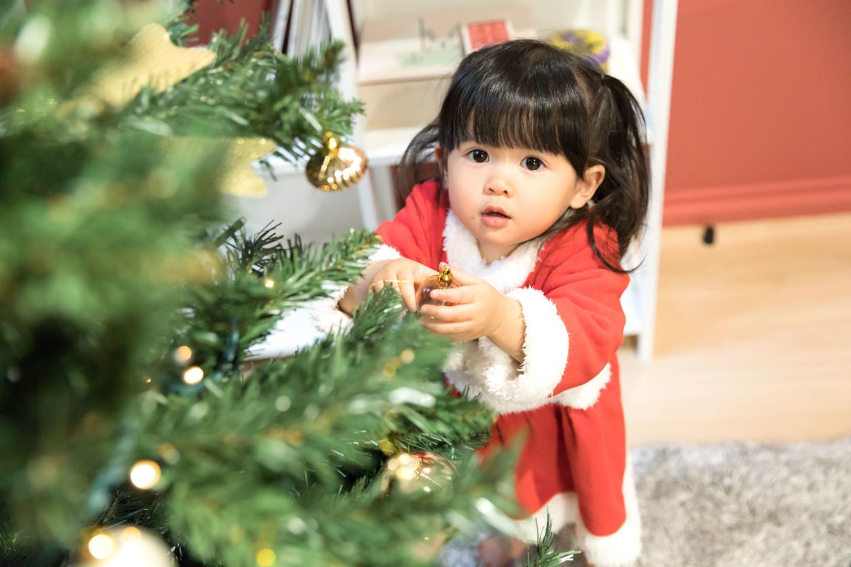 Koji Takayanagiが撮ったクリスマス撮影会のキッズ写真(エミリィ)