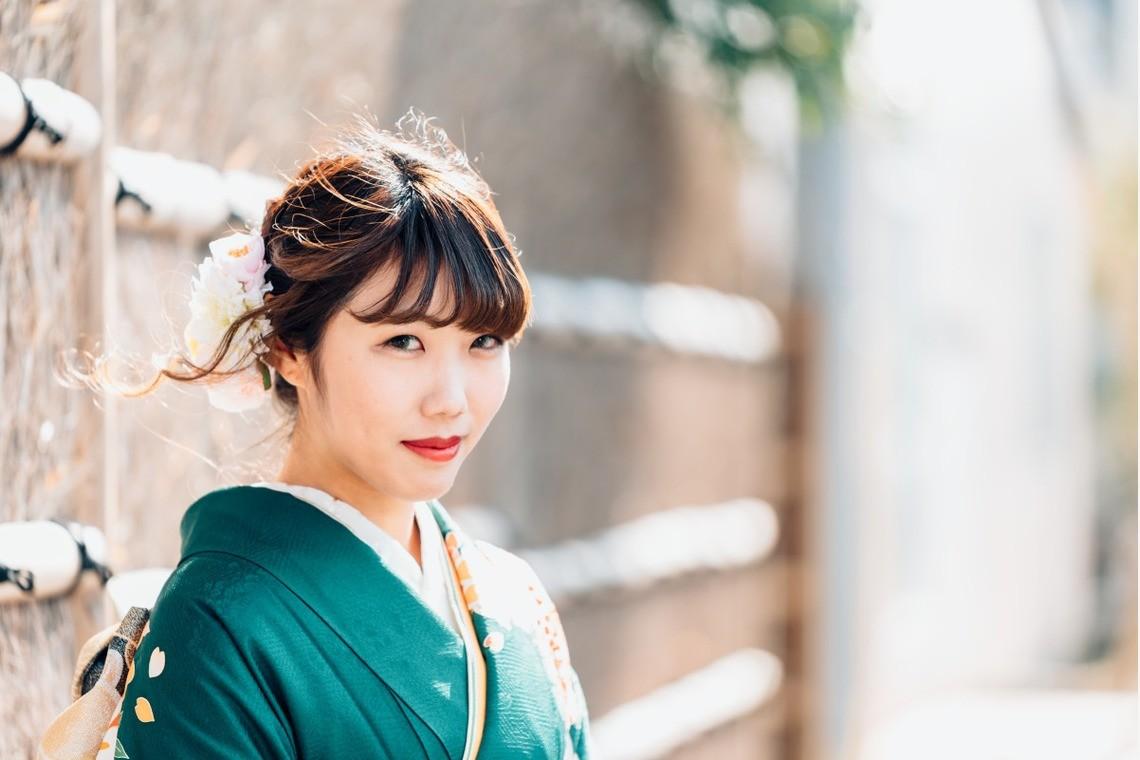 遥南 碧が出張撮影した美しい成人式写真(エミリィ)
