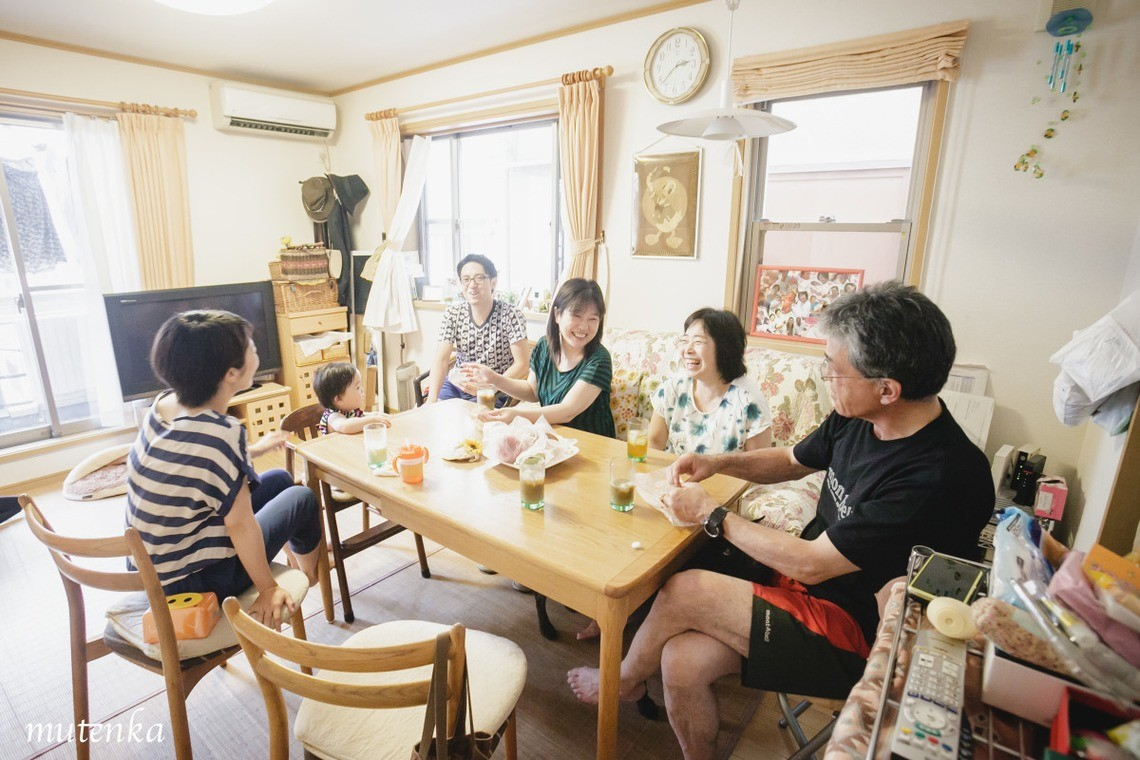 無添加写真堂が撮影した自宅での家族写真