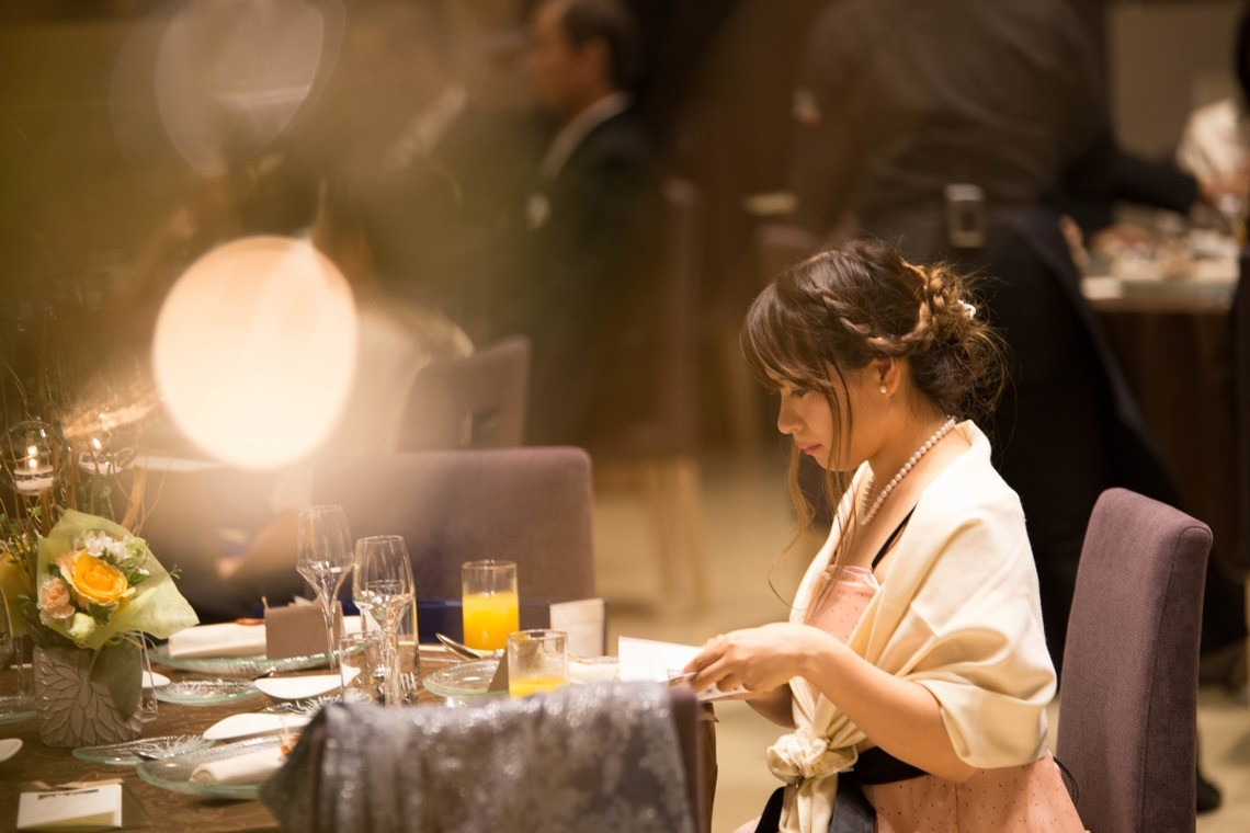 Guest at Wedding Reception — Photo by Takano Kazuki