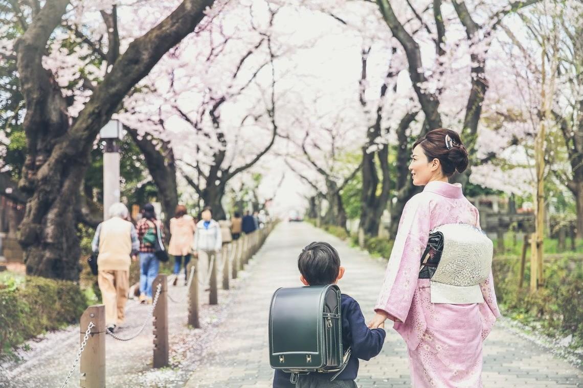 Layla Shibukawaが出張撮影した小学校入学式の記念写真
